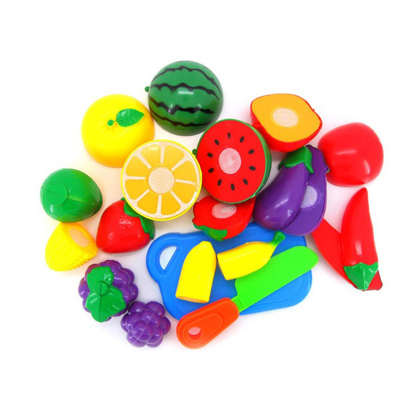 Funny 1 Set Cutting Fruit Vegetable Pretend Play Children Kid Teaching Learning Educational Toy Aug3