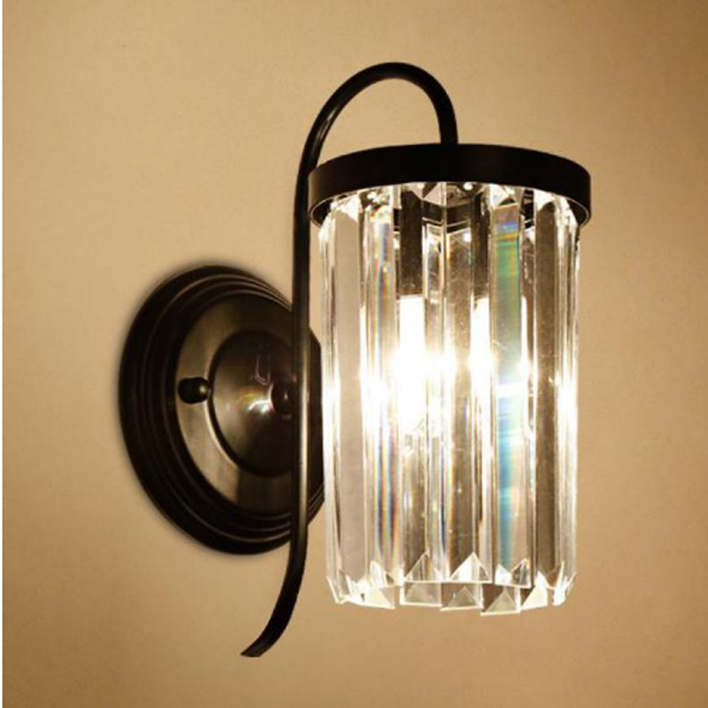 Simple LED crystal wall lamp modern living room background wall lamp bedroom bedside lamp study stair bathroom mirror headlight modern lamp trophy wall lamp wall lamp bed lighting bedside wall lamp