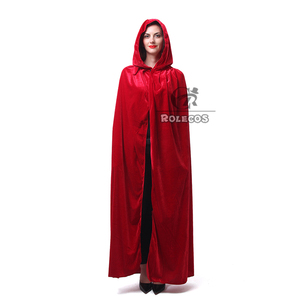 Image 3 - ROLECOS Hot Sale Halloween Cosplay Costume for Adult Long Purple Green Red Black Cloak Witch Wizards Hood with Capes Costume