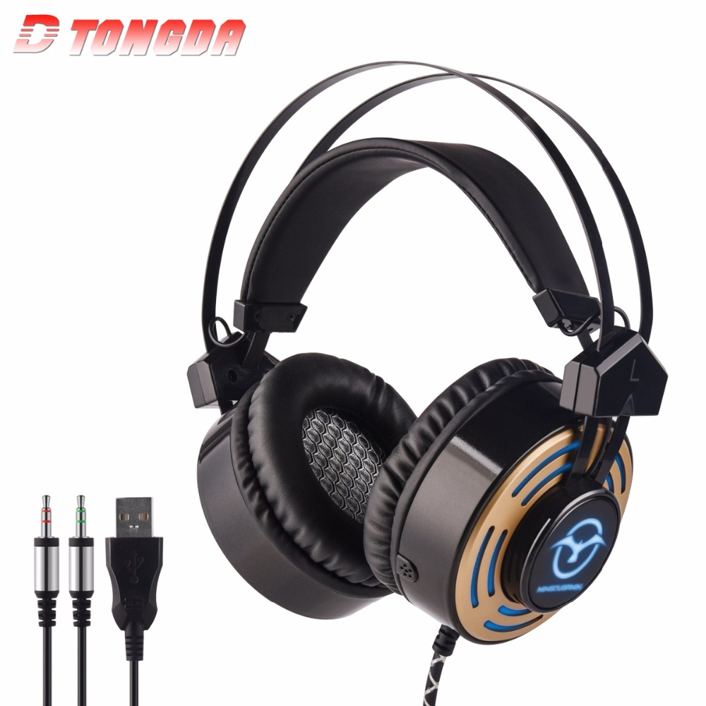 M5 Over-Ear 3.5mm Gaming Headset Headband Game Headphones & Earphones With Microphone LED Light For PC Laptop / PS4