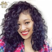 [Король волос] Полный Кружево Искусственные парики естественная волна Человеческие волосы с волосами младенца 14-24 бразильский Волосы Remy натуральных волос для черный Для женщин