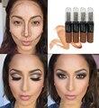 Maquillaje de la cara 3 Colores Opcionales Corrector Líquido Corrector Líquido Corrector Cepillo de Maquillaje Crema Cabezas Dobles Bursh Cosmética