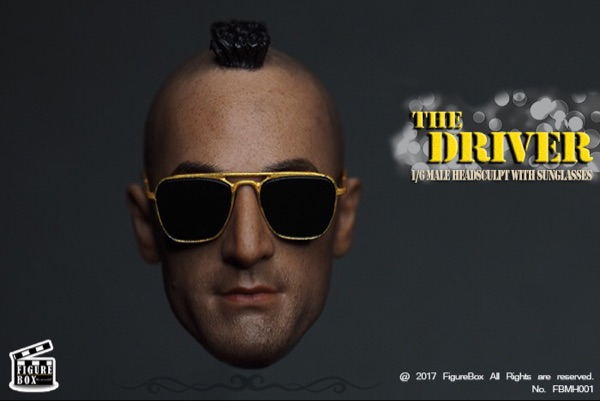 FIGURE BIX The Drivr Driver's Head with Metal Glasses Head Sculpture Model bix a1042 anatomy of the head cerebral artery model wbw299