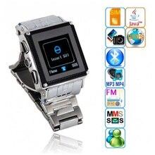Marca Nuevo Acero Inoxidable IP67 A Prueba de agua W818 Bluetooth Smartwatch Reloj Inteligente Teléfono Móvil de Doble Tarjeta de La Cámara MP3 MP4