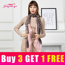 Jinjin.QC New Scarf Women Cotton Material Leopard Animal Print detail Casual 180*90cm Fashionable Lightweight Scarves