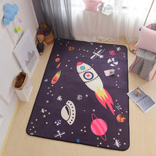 New Nordic Style Decor Flannel Velvet Big Mat Living Room Floor Children Crawling Play Mats Anti-slip Tea Table Carpets Are Rugs(China)