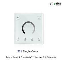 85-265VAC 2.4G led Touch Panel 4 Zone RGB DMX512 Master & RF Remote for single color/color temperature/RGB/RGBW led strip gledopto 2 4g rf rgb rgbw wall led panel remote control rgbw wall touch panel wireless rf touch remote 4 zone led wall panel