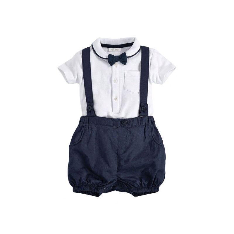 Baby Boy Gentleman Oficjalna Strona Tuxedo Garnitur na chrzest - Odzież dla niemowląt - Zdjęcie 2