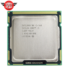 معالج Intel Core i5 760 بسرعة 2.8 جيجاهرتز بمقبس ذاكرة التخزين المؤقت 8 ميجابايت طراز LGA1156 45nm وحدة معالجة مركزية لسطح المكتب