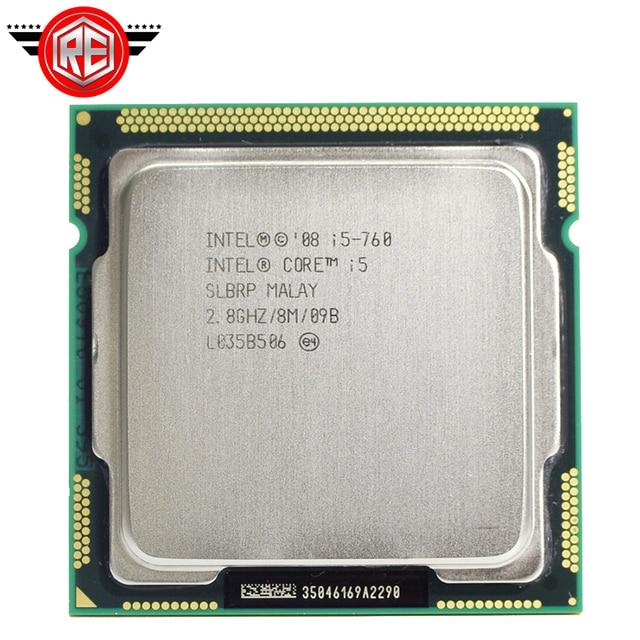 Procesador Intel Core i5 760, 2,8 GHz, 8MB, caché, Socket LGA1156, 45nm, CPU de escritorio