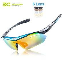 2017 Hot High-Quality BASECAMP Cycling Glasses Polarized Sports Sunglasses Mountain Road Bicycle Bike Fishing Eyewear 6 Lens