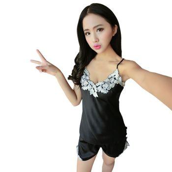 c4b39ae906cc Product Offer. Шелковый Атласный пижамный комплект с кружевом ...