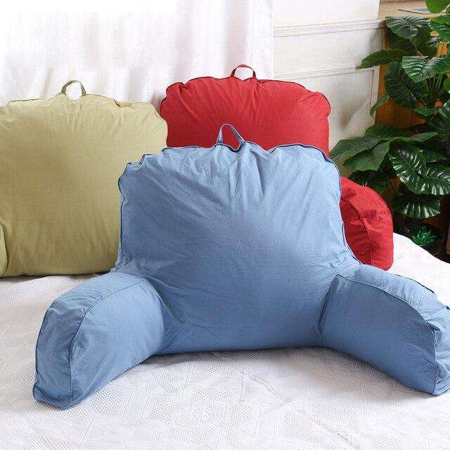 grand coton lit lecture reste regarder la television taille oreiller retour coussin avec support de bras