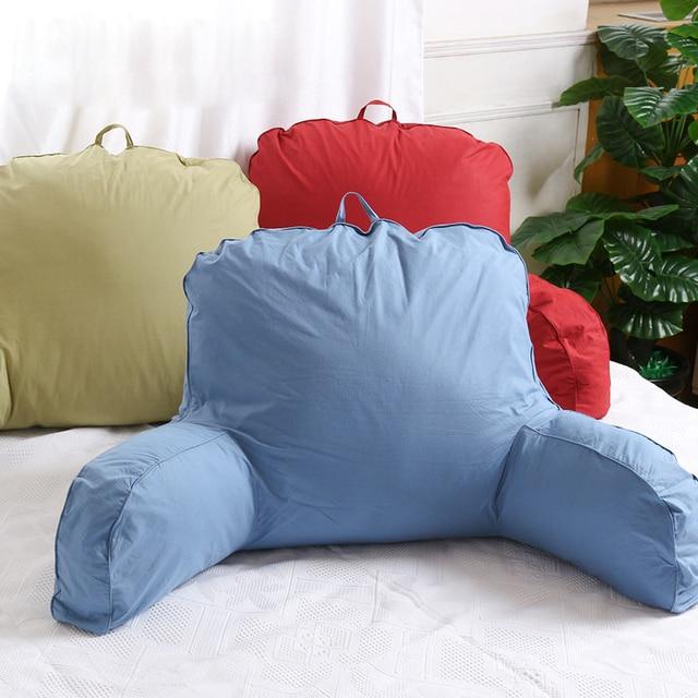 Große Baumwolle Bett Lesen Rest Fernsehen Taille Kissen Zurück Mit Arm Unterstützung Stuhl Autositz Sofa