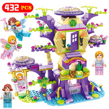 City Girls Friends Serie Dream Tree House Kompatibel Legoingly Princess Friend Girl Building Blocks Tegelstenar för barnleksaker