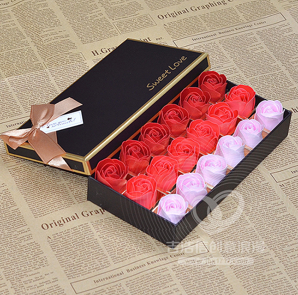 18 Gradient Soap Roses Romantic Christmas Gift Ideas Birthday Flower Delivery Girlfriend