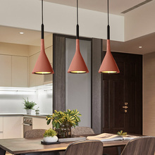 BOKT Hanging Light Modern LED Pendant lamp Resin Home Industrial Lamp Conical Kitchen Island Suspension Lamps