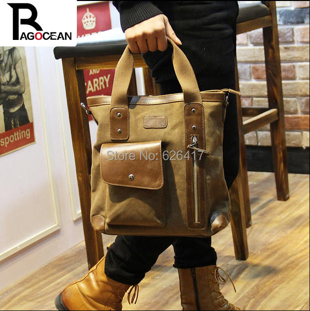 New style men canvas vintage bag leisure shoulder messenger bag Business Handbag Man Travel Bags High quality Free shipping free shipping 2014 boom bag leisure contracted one shoulder bag chain canvas bag page 1
