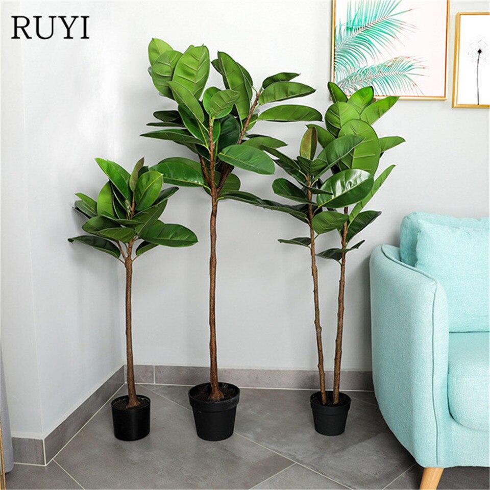 Artificial Plant Fake Tree Home Garden Office Green Plant Flower Livingroom Deor