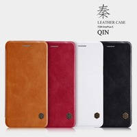 Nillkin Mobile Phone Bag For Oneplus 5 A5000 PU Leather Ultra Flip Case Quick Circle For