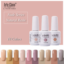 Arte Clavo 15 ml Soak Off LED UV Gel Unha Polonês Cor Nude Brilho Da Arte Do Prego Verniz Gel Semi Permanente gel para Unhas Primer Tops(China)