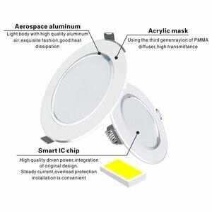 Image 2 - LED Downlight תקרה לבן/לבן חם 5W 9W 12W 15W 18W led תקרת מנורה עגול שקוע AC 220V 230V 240V חדש סוג Downlight