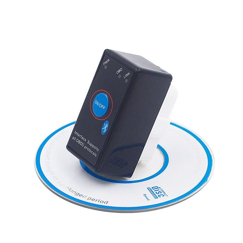 Super Mini ELM327 Bluetooth ELM 327 Power Switch V2.1 On/Off Button OBD2 Car Diagnostic Tool Multi-Languages For OBDII Protocols