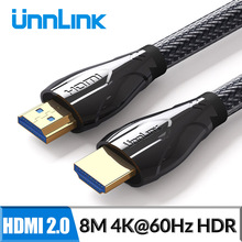 Unnlink Long HDMI Cable UHD 4K@60Hz 2.0 HDR 3M 5M 8M 10M 15M 20M for Splitter Switch PS4 LED TV Box xbox Projector Computer