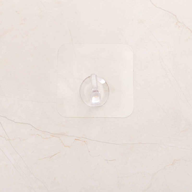 דבק קיר אחסון ווים ארגונית לחלוק מגבת מעילי אמבטיה מטבח נייל משלוח שקוף כבד החובה קיר וו
