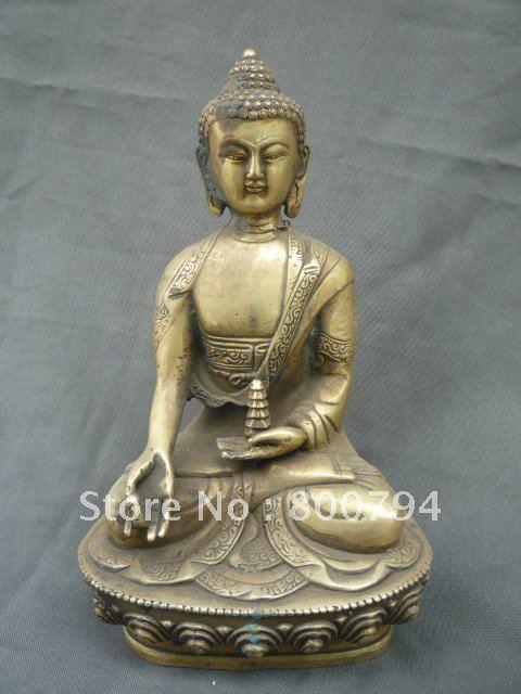 Rare Statue de bouddha en cuivre de la dynastie Qing, livraison gratuiteRare Statue de bouddha en cuivre de la dynastie Qing, livraison gratuite