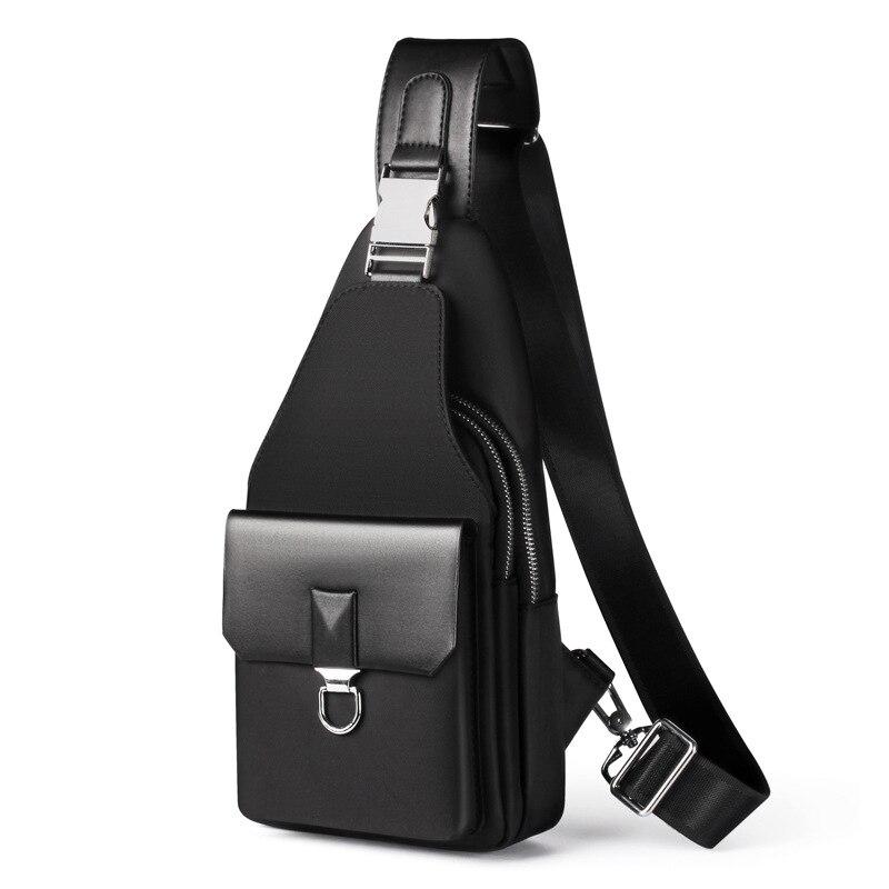 New Fashion Men Shoulder Bag Leisure Waterproof Oxford Man Crossbody Bag Korea Style Messenger Bag For Teenager Chest Bag