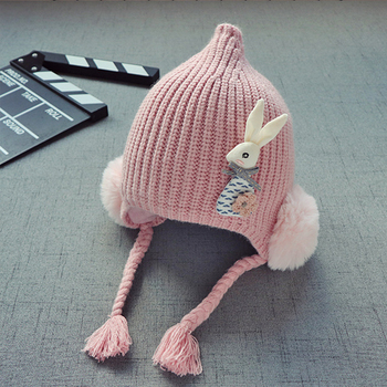 New Winter Baby Knitted Hats - With Cute Rabbit