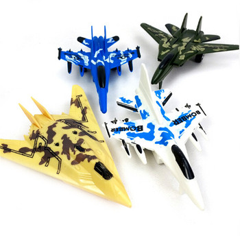 1Pcs Mini Aircraft Models Toys Force Airplane Military Plane Pull Back Toy Random Children Education Toy