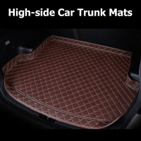 Car Trunk Mats For Mercedes Benz GLC 200 260 300 220d 250d 350e AMG Coupe Car Cargo Rear Boot Liner Trunk Mat Carpet