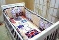 Promoção! 6 PCS berço cama conjunto de roupa de cama 100% algodão ( pára choques + folha + travesseiro )
