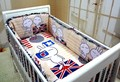 Promotion! 6PCS Baby crib bedding set bed linen 100% cotton baby bedclothes (bumpers+sheet+pillow cover)