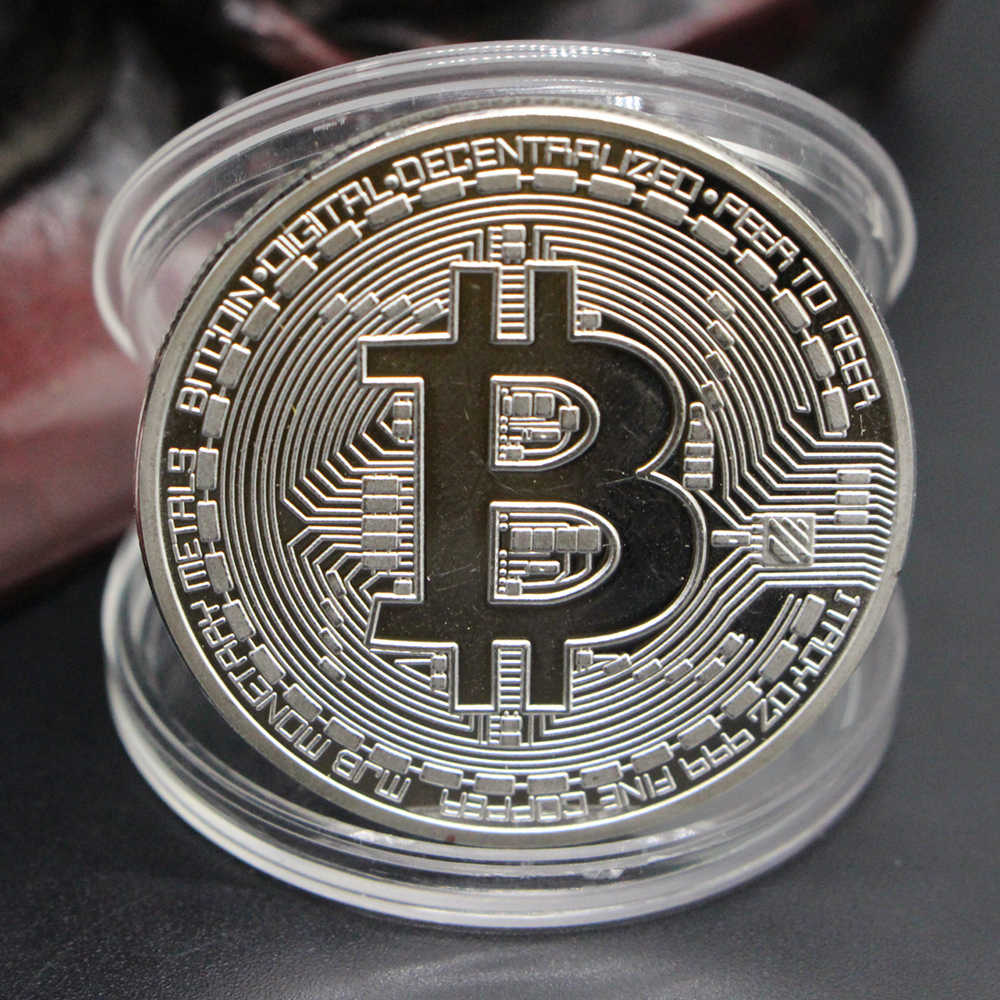 Dropship Banhado A Ouro Bitcoin Moeda Bit Moeda BTC Casascius Moeda Arte Collectible Presente Coleção Moedas Comemorativas de Ouro Físico