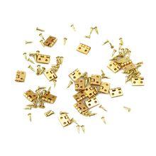 20шт Мини металлическая петля золотая для 1/12 дома миниатюрный шкафчик мебель латунная петля кукольный домик Миниатюрный шкафчик шкаф