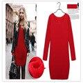 Fashion O-Neck Soft upset Cotton Maternity Dress 2016 Autumn Winter Clothes for Pregnant Women plus size XL-5XL warm dresses
