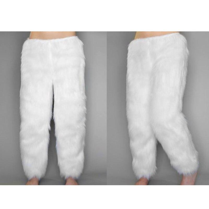 FURSARCAR 2018 новый дизайн зима с натуральным лисьим мехом брюки толстые теплые Для мужчин пижамы роскошь Для женщин натуральным лисьим штаны с м