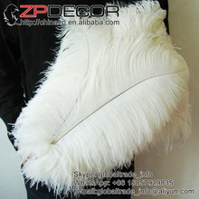 ZPDECOR Factory Length Range 45cm-50cm(18-20) WHITE Color 100pieces/lot TOP Quality Ostrich Feathers for Weeding