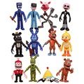 12Pcs/Set FNAF Bonnie Foxy Chica Freddy Fazbear PVC Action Figures Five Nights At Freddy's Toys Doll Brinqudoes 5-11.5CM Juguete