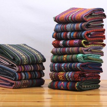 1 meter linen/cotton/poly Y/D fabric us$13/meter 150 cm cloth art curtain decoration ethnic customs table padding thick fashion