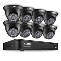 ZOSI 8CH CCTV Системы комплект 1080N TVI DVR 8 шт 1280TVL система наблюдения с инфракрасными датчиками Камера Системы 8 каналов видео наблюдения комплект