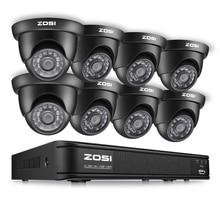 ZOSI 8CH CCTV System Set 1080N TVI DVR 8PCS 1280TVL IR Outdoor Security Camera System 8 Channel Video Surveillance Kit