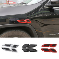 1 PC Fender Shaped ABS Car Styling Emblem Badge Cool Auto Exterior Decoration 3D Stickers For
