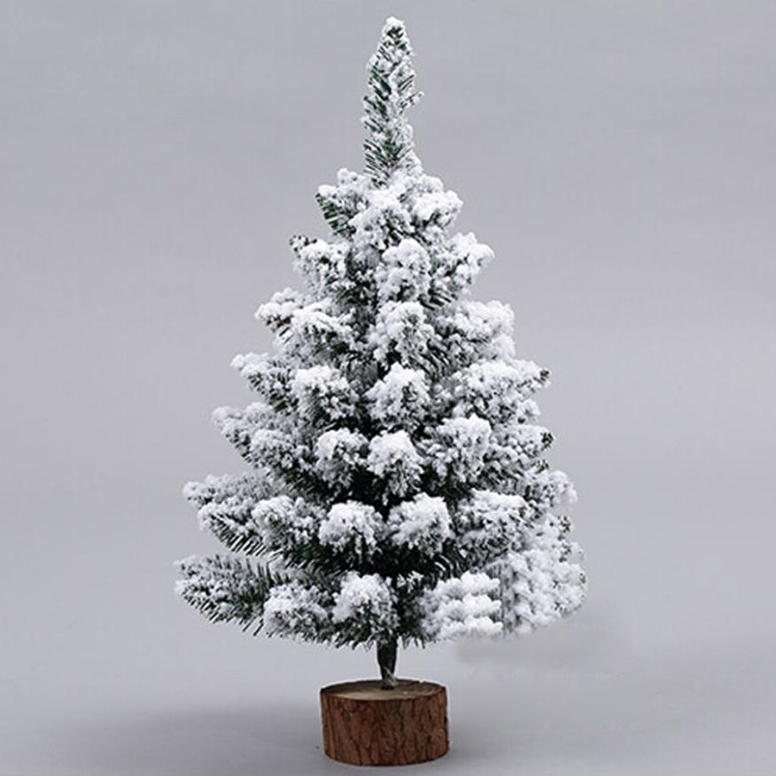 1pc artificial flocking snow christmas tree led multicolor lights holiday window decorations 2au23