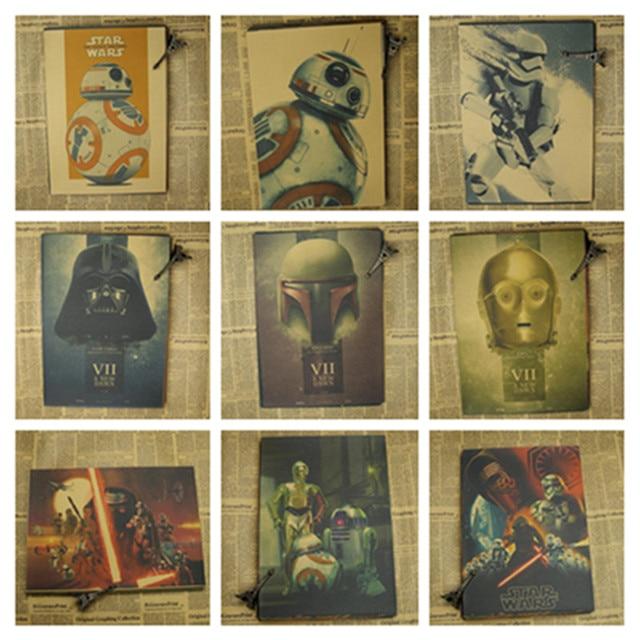 Урожай Ретро плакат Star Wars The Force Пробуждает плакаты Крафт-Бумаги Бар Home Decor Классический кино Стикер
