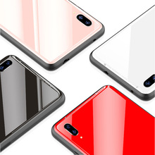 Tempered Glass Protective Phone Case For ViVO X21 Luxury Glitter Slim Silicone TPU Frame Hard Full Back Cover for UD