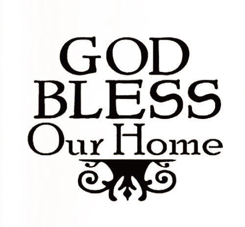 Excellent Creative European Style God Bless Our Home Wall Stickers Quotes  LR19